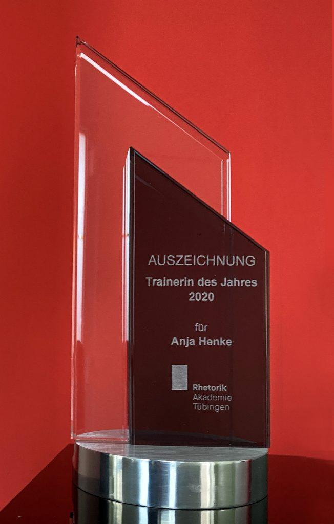 AH-Auszeichnung Trainerin des Jahres 2020